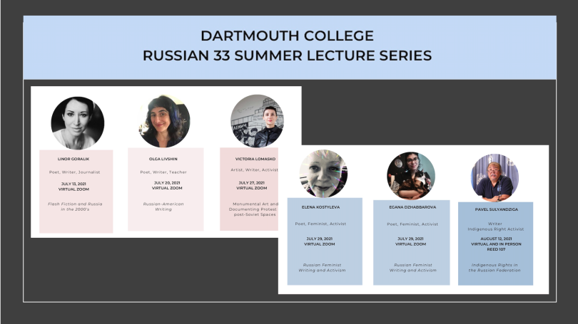 RUSS 33 Summer 2021 Lecture Series
